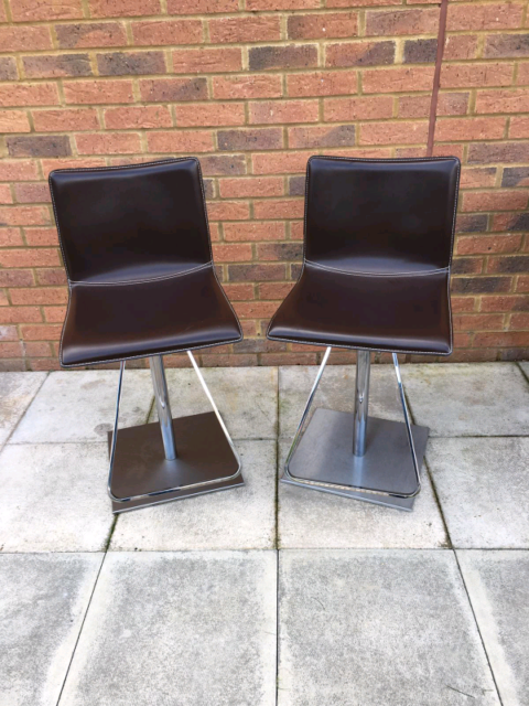 Sensational 2 Corum Made In Italy Bar Chrome Leather Stools In Aylesbury Buckinghamshire Gumtree Pdpeps Interior Chair Design Pdpepsorg