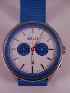 Aulta Large Chronograph Watch with Military One Piece Strap