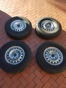 Four 16x6 steel wheels w/ cooper tyres Coromandel Valley Morphett Vale Area Preview