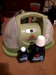 $80 Bisell Little Green machine + Bisell Cleaner *Used once!