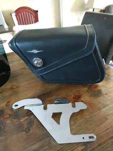 Roadkrome hard saddlebags and Memphis shade windshield
