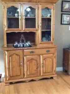 Maple Buffet and Hutch, Table and chairs