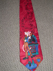 Silk Tie Pink Panther Collectable