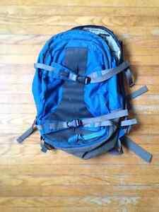 MEC backpack with broken zipper