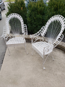 Decorative Pair Outdoor Chairs
