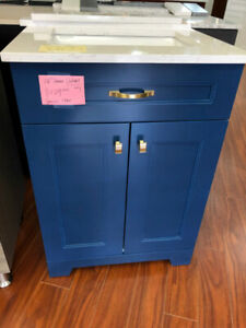 "24"" bathroom blue cabinet on SALE!!"