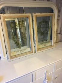 Reduced price Lovely shabby chic glass frames