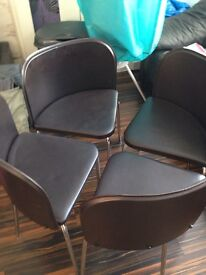 Dining faux leather chairs