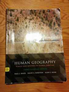 Human Geography Places and Regions in Global Context(3rd Can. Ed Gatineau Ottawa / Gatineau Area image 1