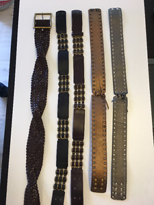 Italian designer leather belts - made in Italy