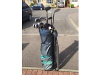 Ladies Full Set with graphite shafts - 9 Irons, 3 Woods, Putter & bag
