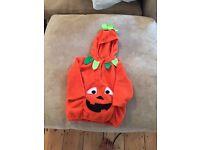 Halloween pumpkin fancy dress 2-3 years