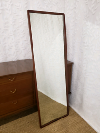 Vintage teak G Plan Fresco mirror, floor mirror