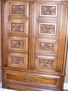 Armoire storage cabinet and night table