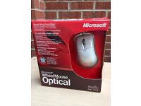 Microsoft Optical Wheel Mouse Brand New & Boxed Including USB & PS2 Adapter