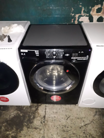 BLACK HOOVER 10KG WASHING MACHINE WITH 3 MONTHS GUARANTEE