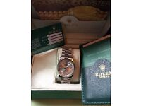 Mens Rolex datejust brand new in box diamond markers