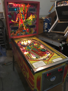 TOTEM PINBALL MACHINE SOLID STATE ARCADE GAME MAN CAVE