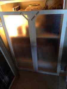 Frosted Glass Cabinet Doors x4 Kitchener / Waterloo Kitchener Area image 4