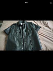 Mens leather shirt lowest I'll take £90