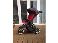 Phil and Teds dot double buggy with accessories