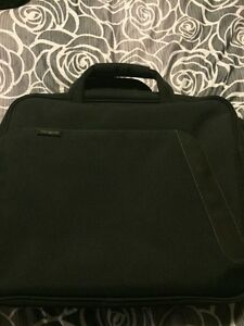 Brand-new laptop or briefcase