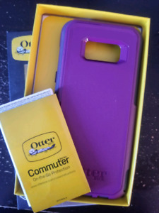 Purple Samsung Galaxy S8+ Otterbox Commuture case
