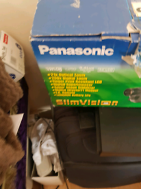 VHS Panasonic Camcorder with all its accessories.