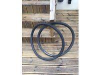 Two 26x1.5 touring tyres for mountain bike plus inner tubes.