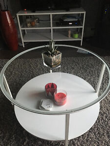 Beautiful White/Glass Coffee Table - PRICE REDUCED