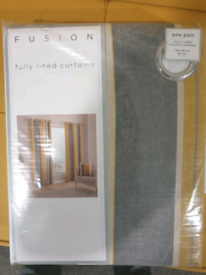 Fully lined eyelet curtains