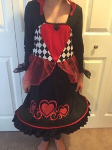 Size 7/8 Girl's Queen of Hearts Costume
