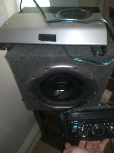Ampli subwoofer et radio