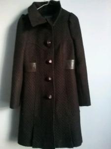Beau manteau classic en laine et cuir Mackage comme neuf
