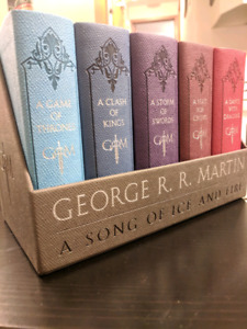 Game of thrones leather bound book set