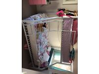 Double bunk bed with single mattress not included