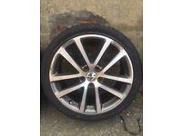 Genuine Single VW GTD Charleston Alloy Wheel & New Tyre