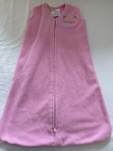 Pink fleece sleepsack.  Halo.  0-6 months.
