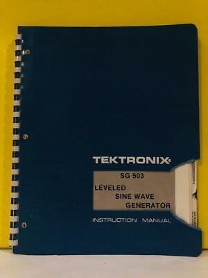 Tektronix 070-1622-00 Sg 503 Leveled Sine Wave Generator Instruction Manual