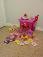 Kids Tea Party Serving Cart & Tray with Accessories.