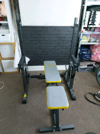 Squat rack and weight bench. Will sell seperatley