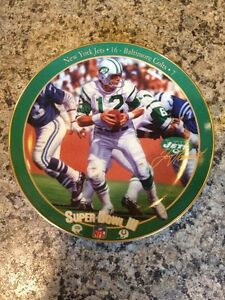 "Joe Namath Collector Plate ""The Guarantee"""
