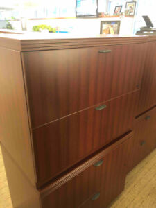 High end legal-sized desk-height filing cabinets