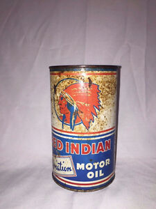 Red Indian Oil Can and Door Push
