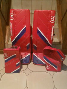 Warrior Ritual G4 Pro Goalie Glove Blocker Pads