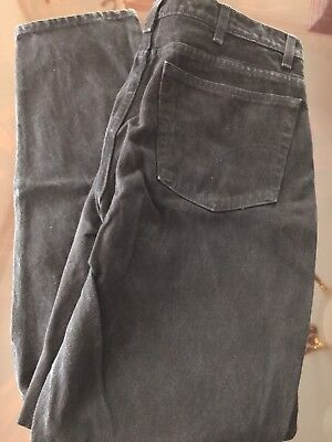 LEVI'S 550 Men's RELAXED BLack JEANS 100% Cotton 5-Pocket Red Tab Vintage 39x33