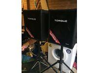 Torque speakers on stands