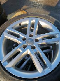 Audi wheels good branded tyres