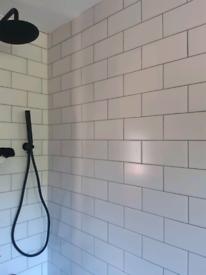 White Metro Tiles - Flat Matt