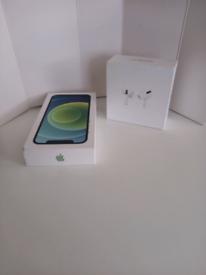 Apple iPhone 12 64GB Green (Unlocked) + Airpod Pro + Screen protector